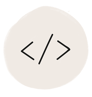 Icon which depicts a code snippet