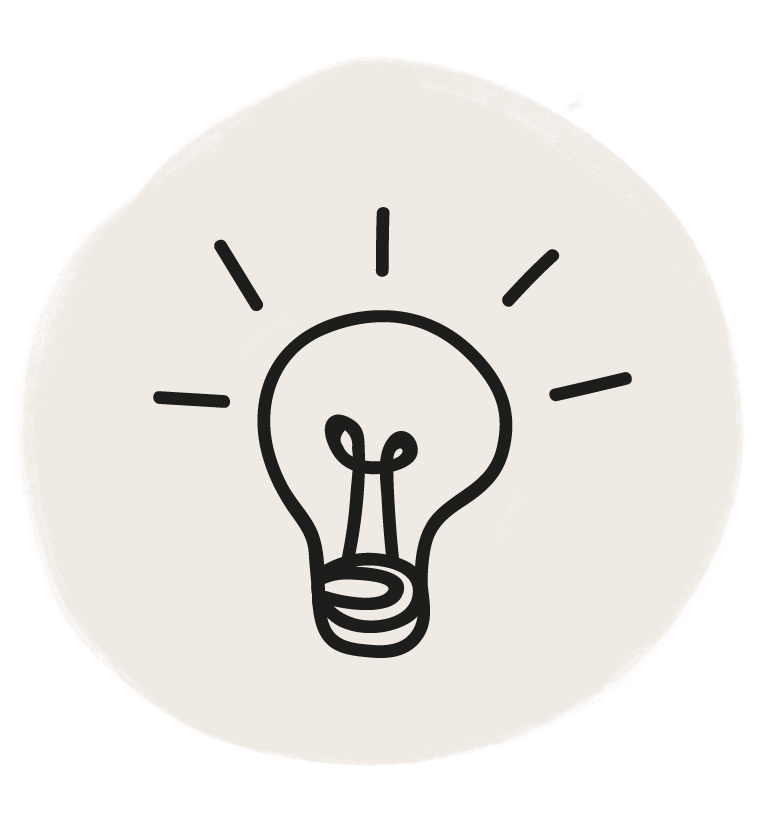 Icon which depicts a lightbulb